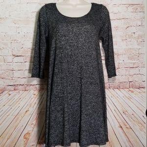 Vibe Sportwear | Marbled Flared Knit Dress